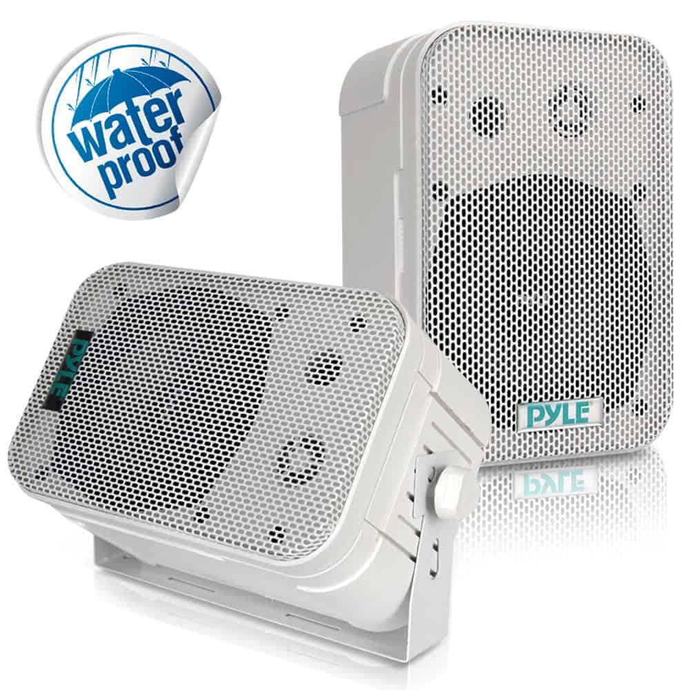 PYLE - PDWR40-W 5-1/4  €  400 Watt Indoor Or Outdoor Waterproof Boxed Speaker Pair - In White
