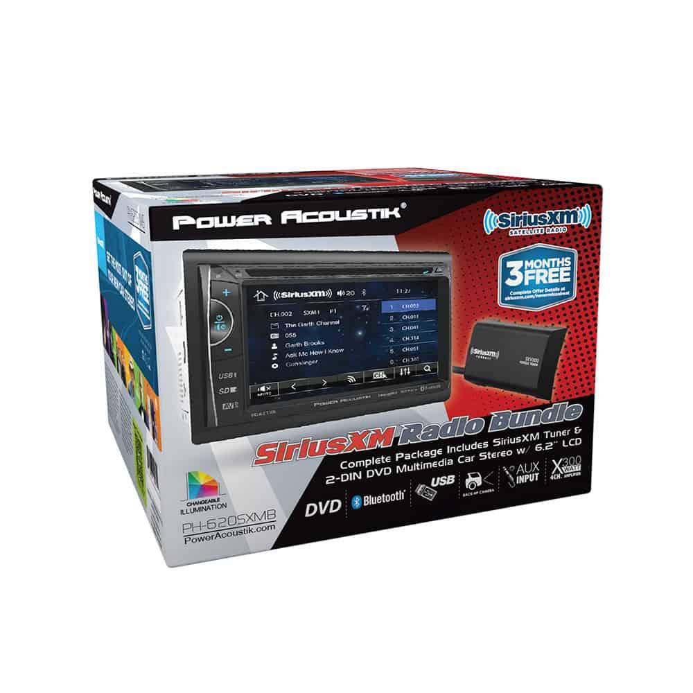 """PH620SXMB - IN-DASH BLUETOOTH CAR STEREO w/6.2"""" LCD TOUCH SCREEN  - SIRIUS BUNDLE"""