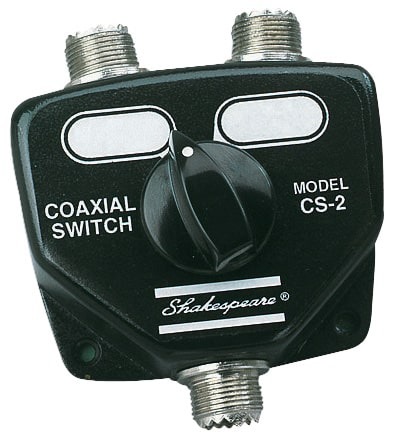 CS2 - SHAKESPEARE - 2 Position Coax Switch - Allows Two Radios To Be Used With One Antenna