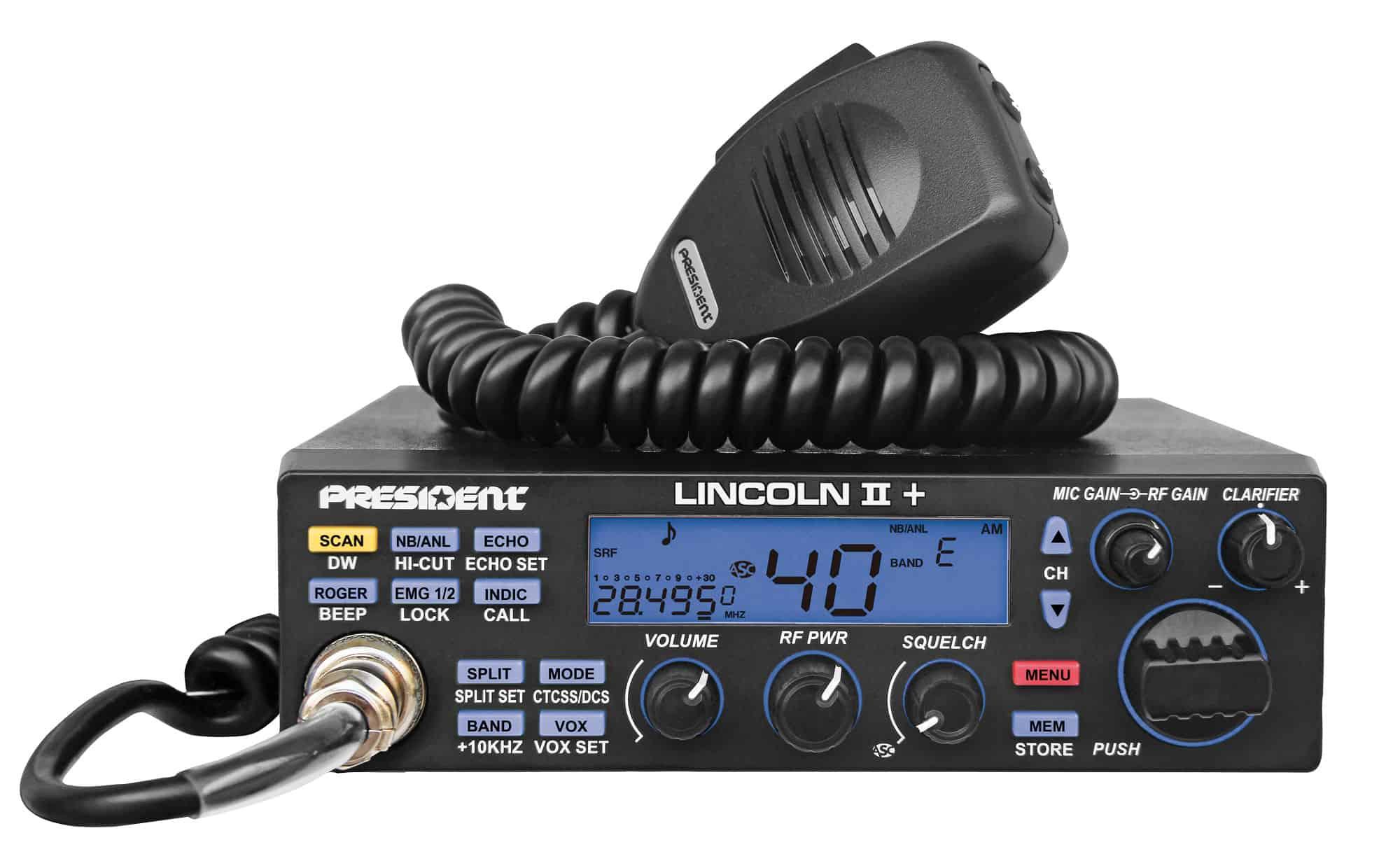 LINCOLNII+ - President 10 Meter / 12 Meter Transceiver Amateur Ham Radio