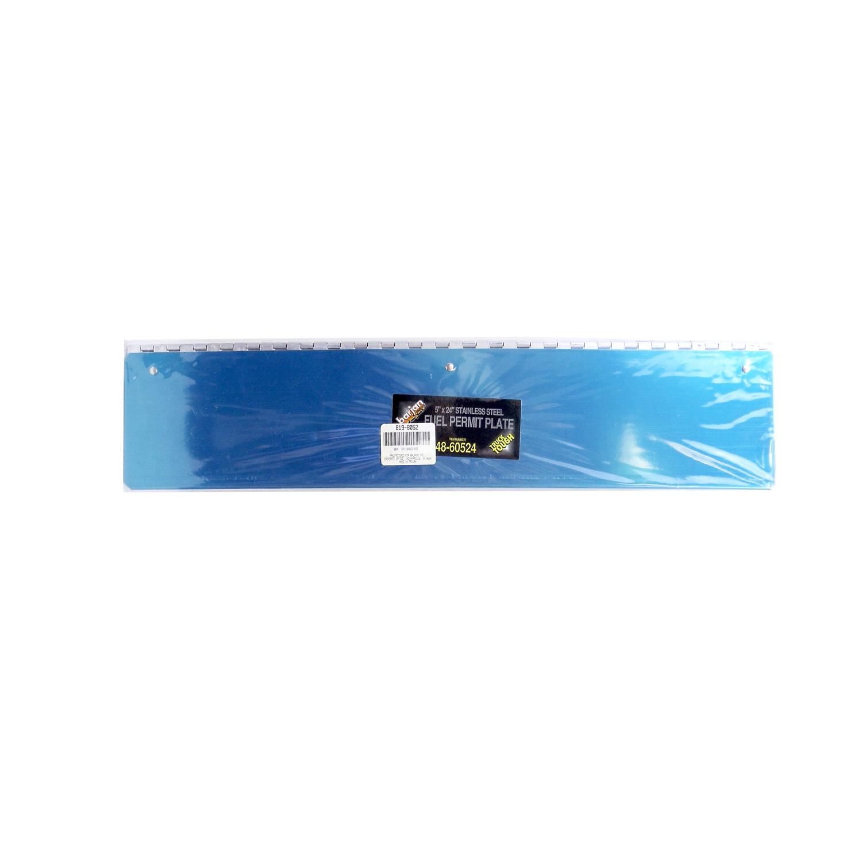 "04860524 - BARJAN TRUCK TUFF  24"" X 5"" STAINLESS STEEL FUEL PERMIT PLATE"