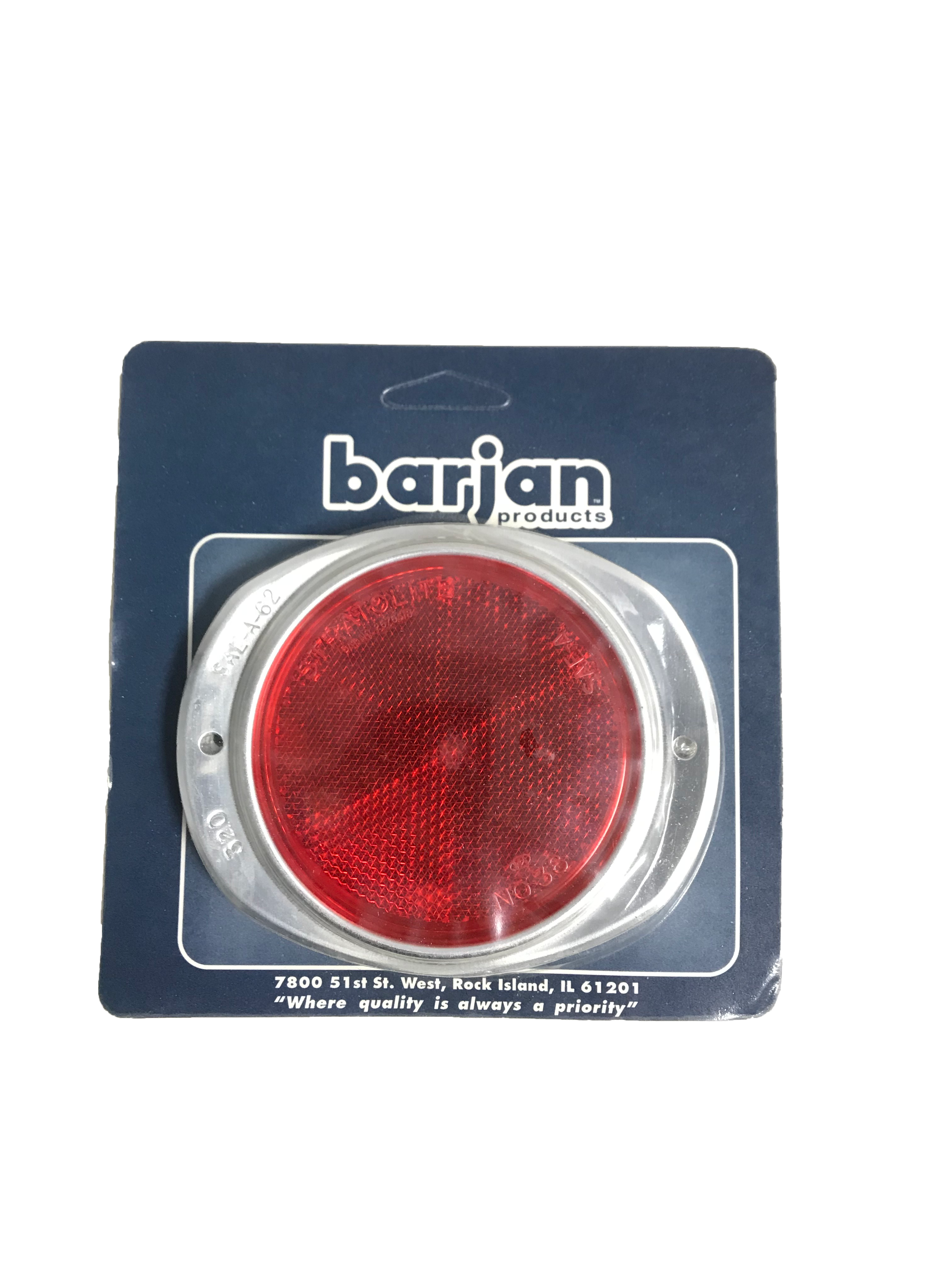 "049BP472R - Reflector Red 3"" Aluminum 2/Card"
