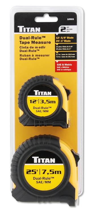 10903 - TITAN 2 PIECE COMBO TAPE MEASURE SET