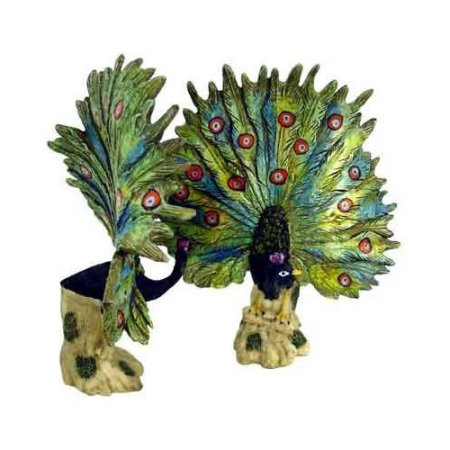 "1256437 - 9"" Open Tail Peacock Statue"