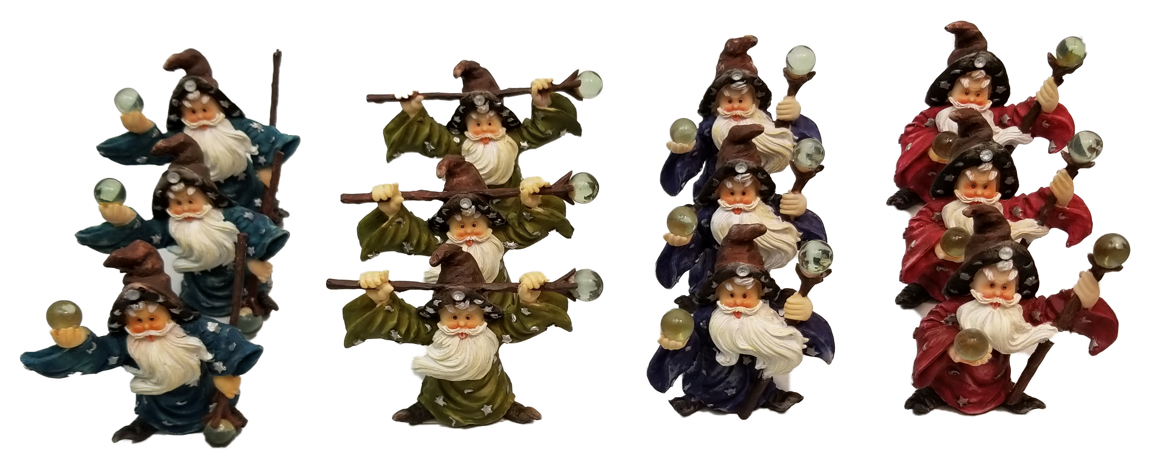 1256658 - Assorted Wizard Statues 12 Pc Display 12/Box
