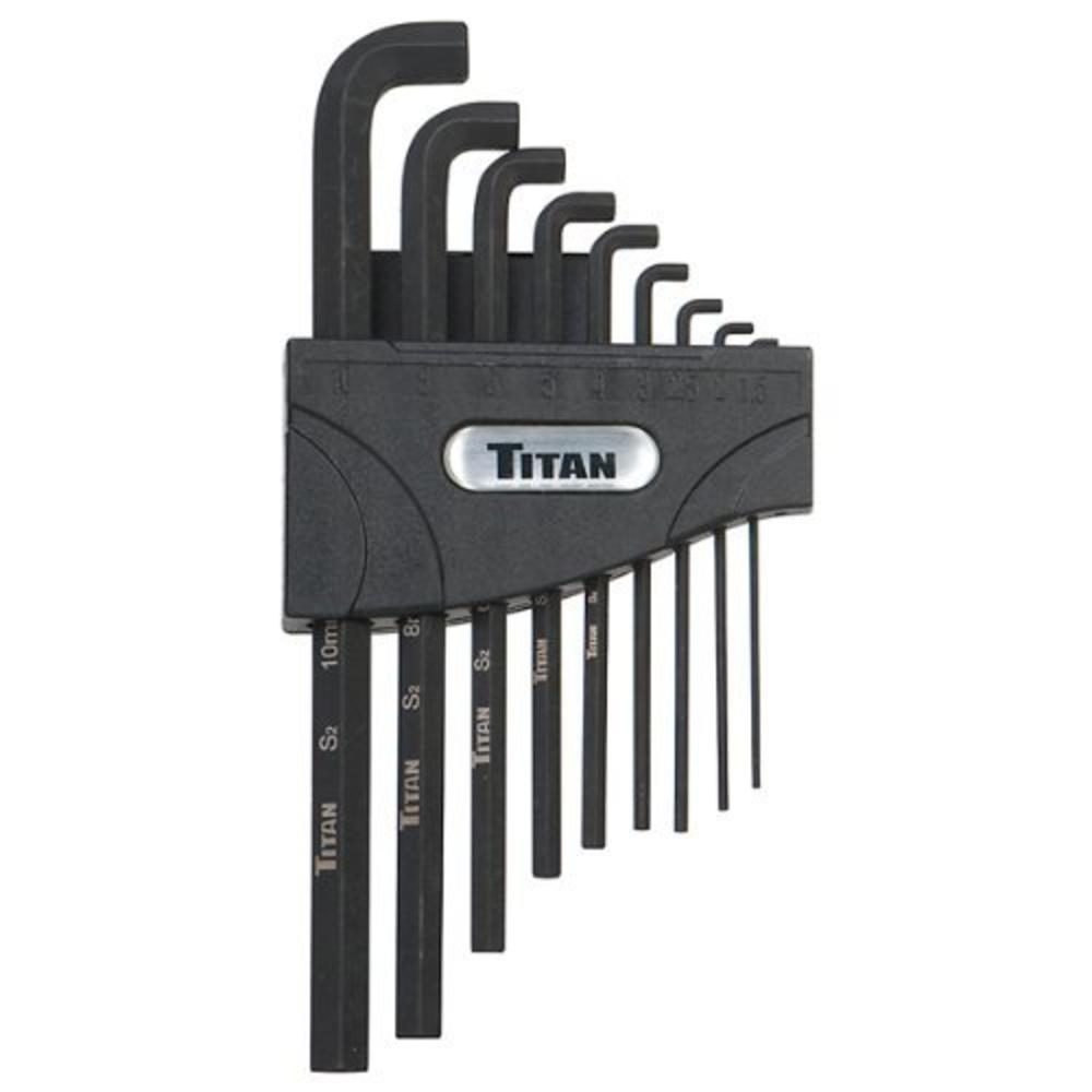 12738 - Titan 9 PC METRIC LOW PROFILE HEX KEY SET 1.5 UP TO 10MM