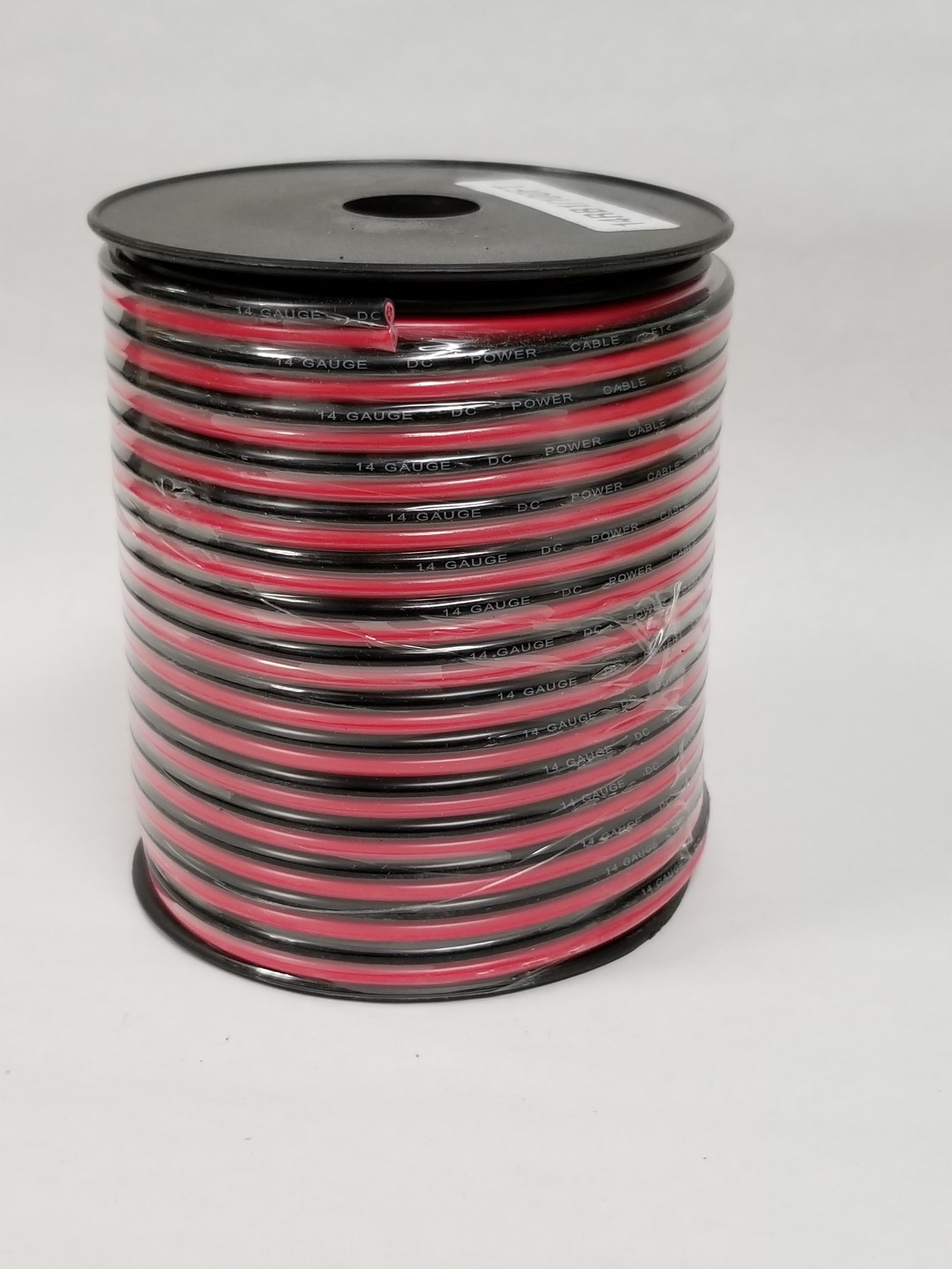 14RB1 - WORKMAN 100 FOOT SPOOL OF 14 GAUGE RED/BLACK DC ZIP WIRE