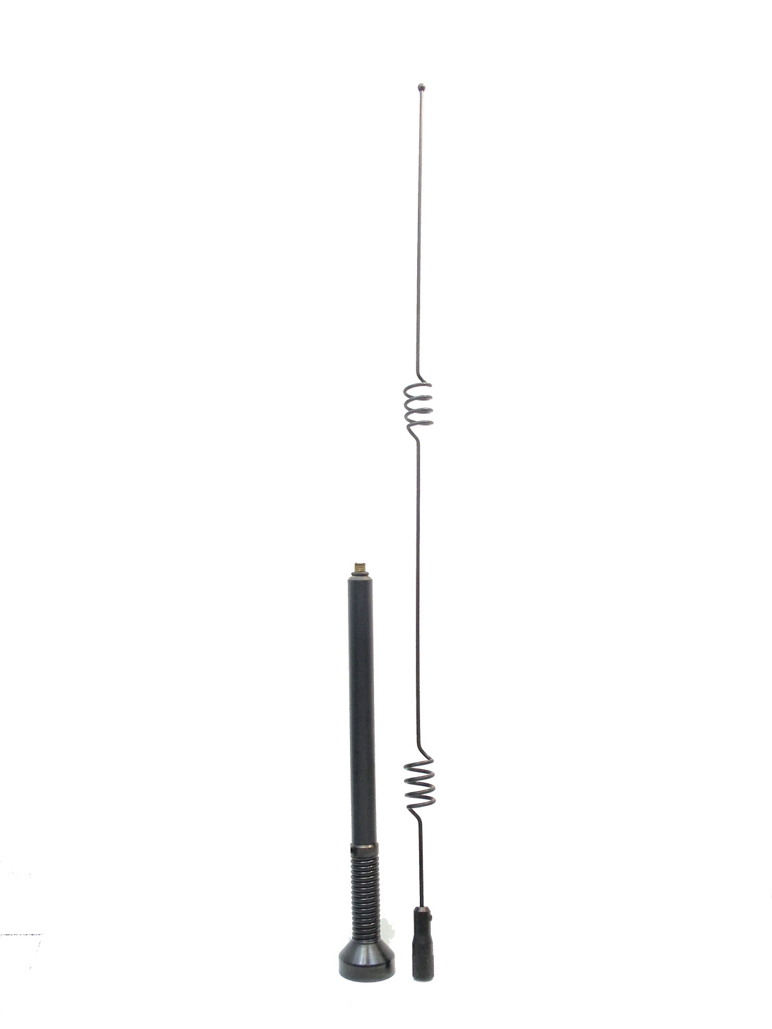 BMUF8035 - MAXRAD 806-866 MHZ BLACK 125 WATT 5DB ELEVATED OPEN COIL FACTORY TUNED ANTENNA WITH SHOCK SPRING