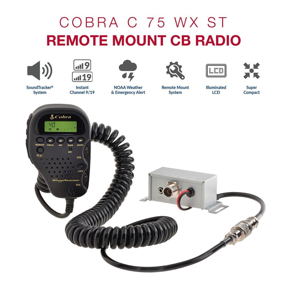 C75WXST - Cobra® All In The Handset CB Radio with Weather