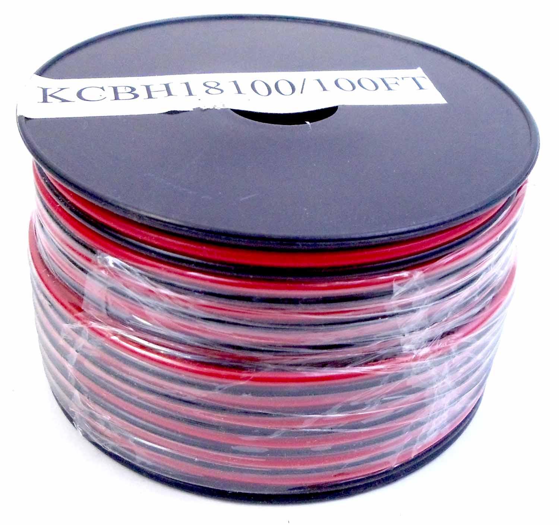 KCBH18100 - KALIBUR 18 GAUGE RED/BLACK ZIP WIRE 100' ROLL
