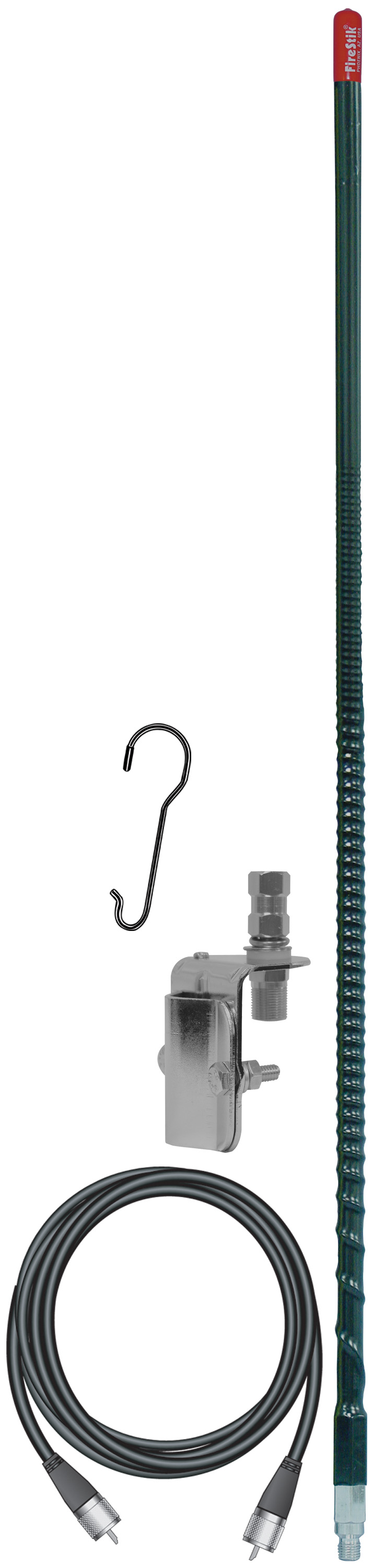 KW3SMK-B - Firestik 3' Single Mirror Mount CB Antenna Kit (Black)
