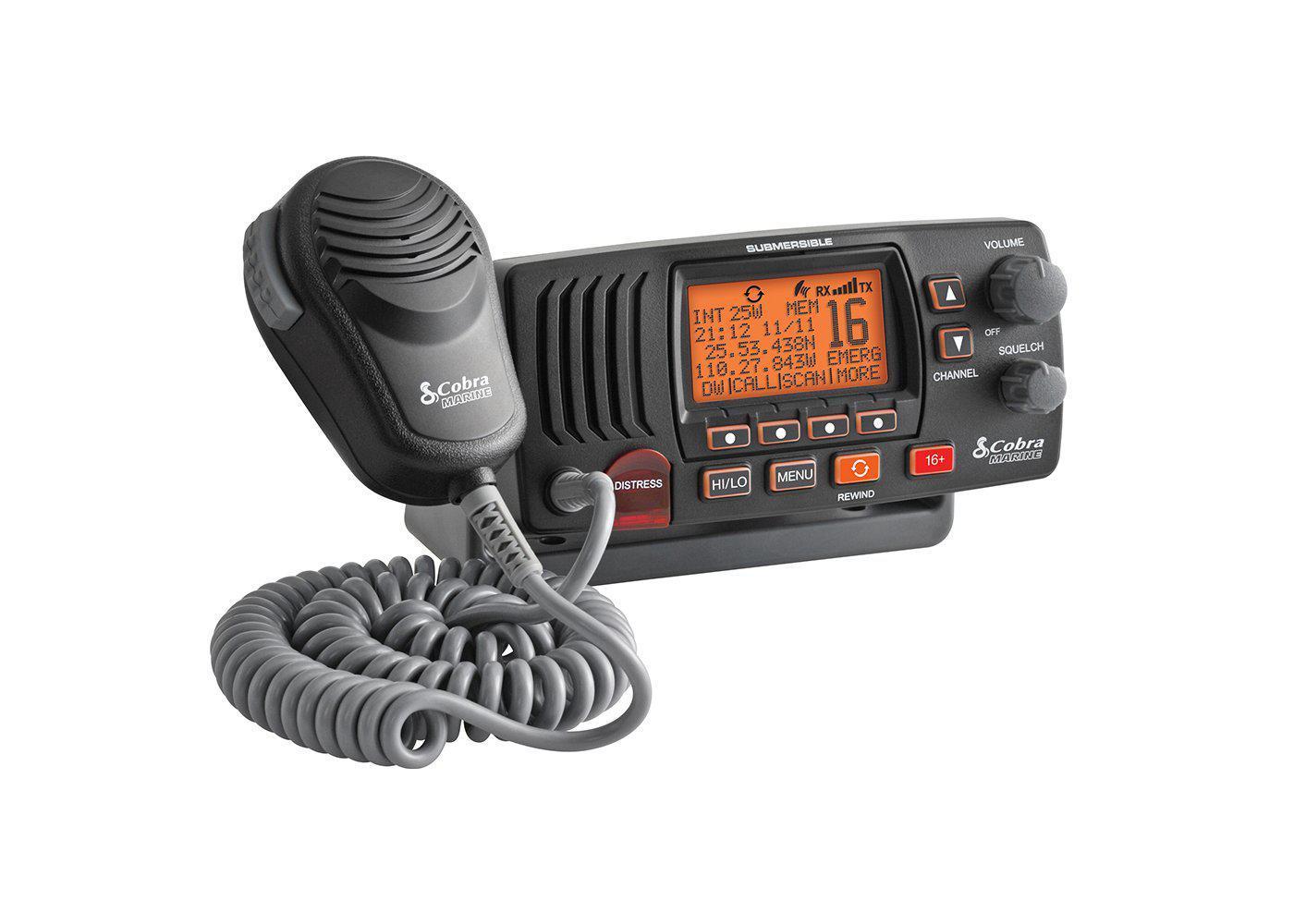MRF57B - Cobra® Class D 25 Watt Submersible VHF Marine Radio