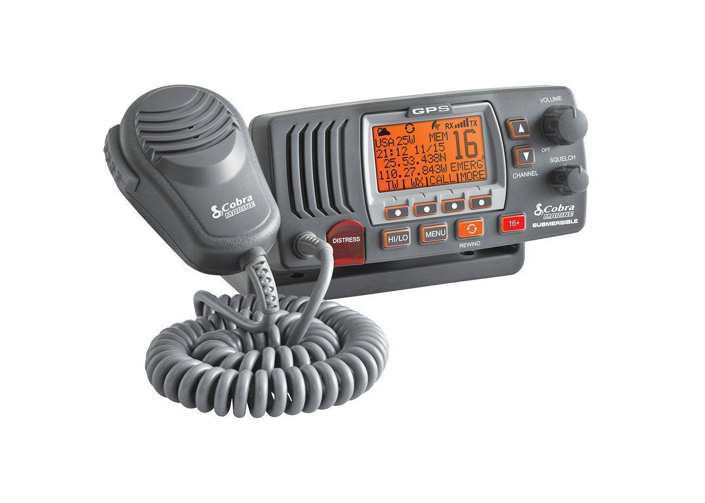 MRF77BGPS - Cobra® Class D 25 Watt Submersible VHF Marine Radio