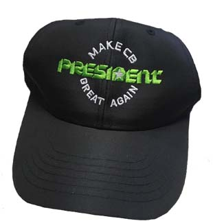 "PRESIHAT - President Electronics ""Make CB Great Again"" Hat"