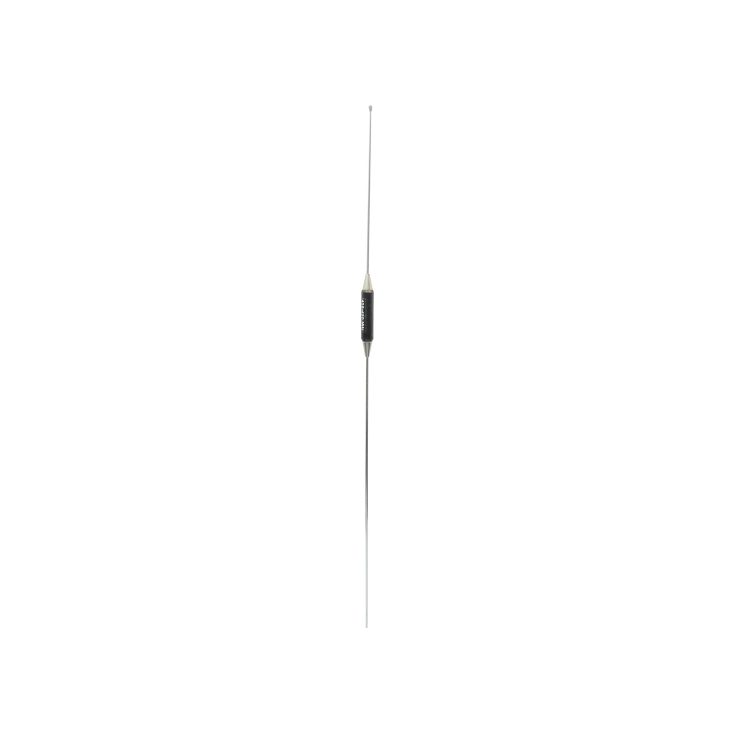W152 - LARSEN CLOSED COIL 5/8 OVER 1/2 ENCLOSED .100 DIAMETER STAINLESS STEEL WHIP ANTENNA(406-420MHZ)