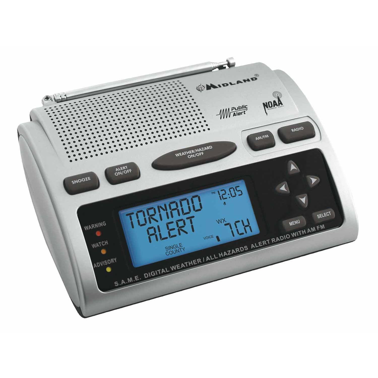 WR300 - Midland Radio Weather Monitor With All-Hazards Alert