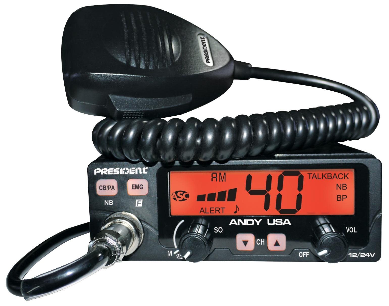ANDY - President Dual Voltage CB Radio