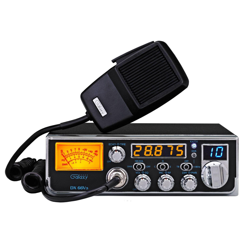 DX66V3 - Galaxy 45 Watt Mid-Size AM 10 Meter Amateur Ham Radio