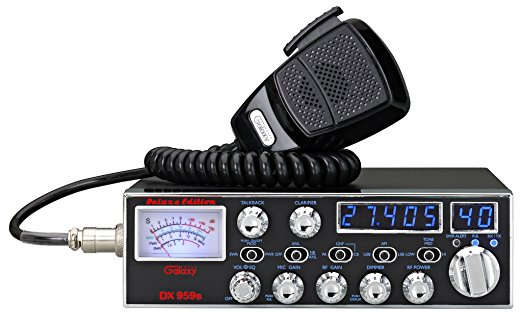 DX959B-T - Galaxy AM/SSB 40 Channel Deluxe CB Radio Blue LED (Peaked and Tuned)