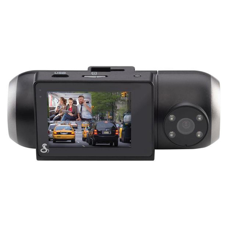 SC201 - Cobra®Dual View Full 1080p HD Dash Camera With Real-Time Driver Alerts