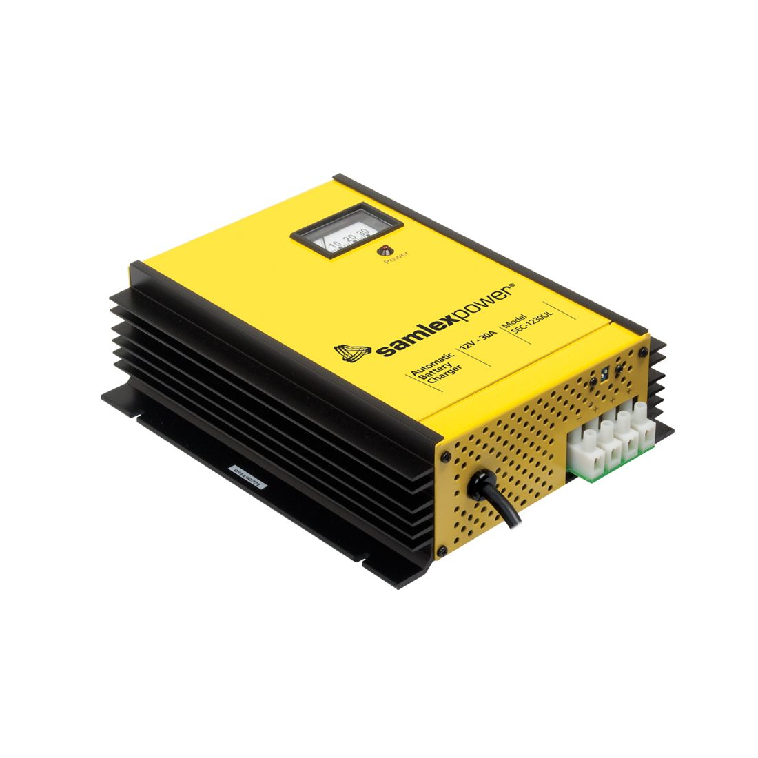 SEC1230UL- Samlex 30 Amp 12 VDC Lead-Acid Battery Charger or Power Supply