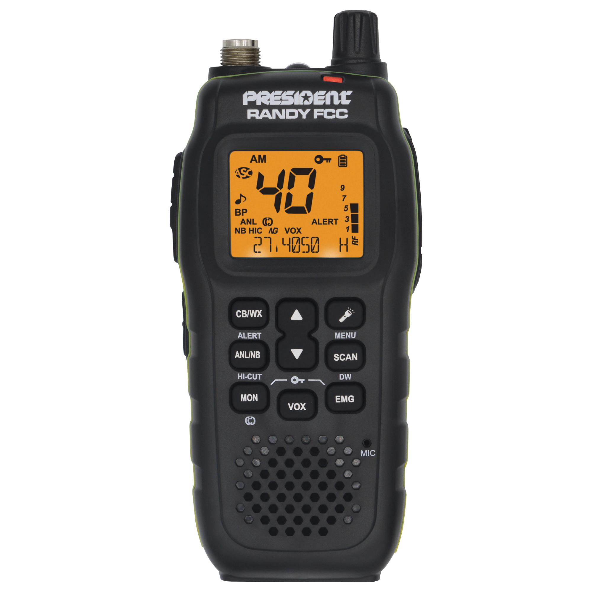 RANDY - President 40 Channel Handheld CB Radio