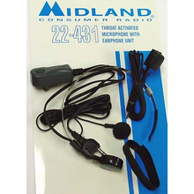 22431 - Midland Throat Microphone For 77-830 Radio