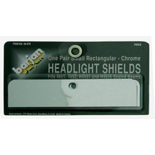 048378 - Small Rectangular Chrome Headlight Shields (Pair)