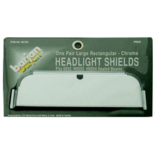 048379 - Large Rectangular Chrome Headlight Shields (Pair)