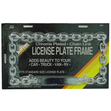 048507 - Chrome Plated Chain Link License Plate Frame - Standard Size