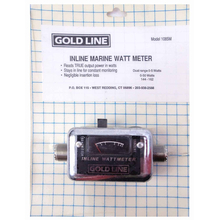 1085M - Goldline 144-162Mhz Marine In Line 50 Watt Meter