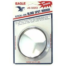 "050253 - Eagle Wedge Design 3-3/4"" Round Stick-On Blind Spot Mirror"