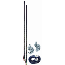 AUMM24-B - 4' Black Dual CB Antenna Kit