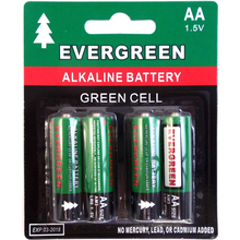 EBAA - Evergreen 4 Pack AA Cell Alkaline Battery