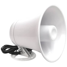 "JBCPA5 - ProComm 5"" Diameter 15 Watt White PA Horn With Cable & Plug"