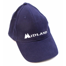 MIDCAP-BL - Midland Logo Dark Blue Cap With Hook & Loop Adhesion Closure