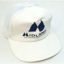 MIDHAT-W - Midland Marine White Logo Cap With Mesh Back