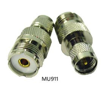 MU911  - ProComm Mini UHF Male To UHF Female Adapter Connector