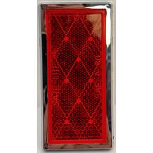 """049BP484RX - Reflector Red Rectangular 3 1/2"""" X 1 3/4"""""""