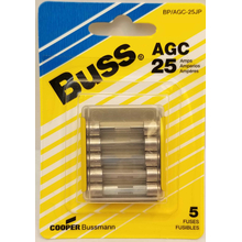058BPAGC25JP - Blister Packed Agc-25 Amp Fuse