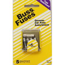 058KG5 - Upc15102 German Car Fuse 5/Card