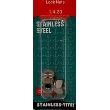 "07401365 - Stainless Steel Lock Nuts 1/4 X 20"""