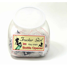 TG101TUB20 - 20 Trucker Girl Bottle Openers In A Display Tub