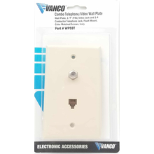 WP59T - Marmat Telephone / Tv Wall Plate