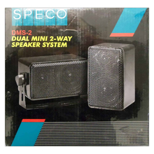 DMS-2 - Speco Mini Two-Way Speaker 30 Watts Max (Pair)