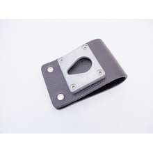 """LMS - Heavy Duty Leather Belt Loop W/1-1/4"""" Diam Zinc Teardrop"""