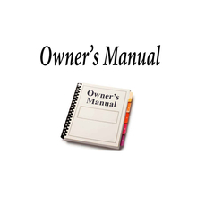 OMAHCM10 - Sima Owners Manual For Cm10