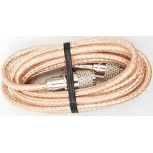 PP8X9-CLR - ProComm 9' RG8X Coax Cable W/PL259s Clear Jacket