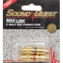 RSMD - Pair Of Gold Plated Rca Plugs, Packaged, 24Kt.