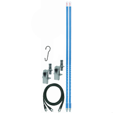FS4DMK-BL - Firestik 4' Dual Mirror Mount Antenna Kit (Blue)